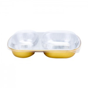 AP850B 2-Compartment Aluminum Foil Food Container