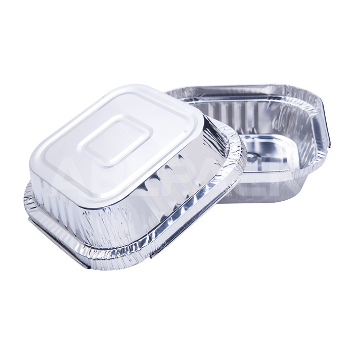 WAP0350 Sqaure Wrinkle Aluminum Foil Pan for Baking and Catering Featured Image