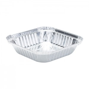 WAP0350 Sqaure Wrinkle Aluminum Foil Pan for Baking and Catering