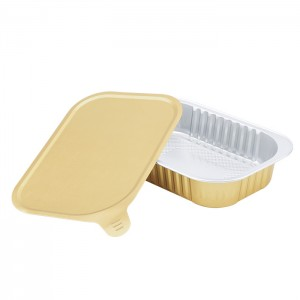 SAP320 Rectangular sealable aluminum foil container