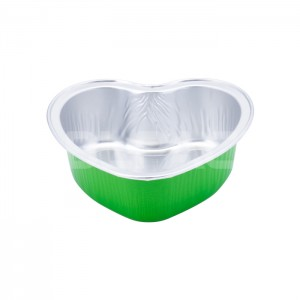 AP100C Heart Shape Aluminum Foil Baking Cups